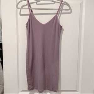 Lavender Ribbed Bodycon Dress. Me to We Brand